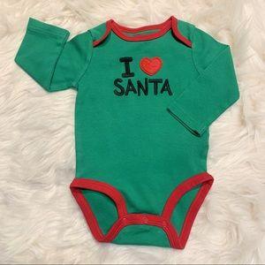 I Love Santa Long Sleeve Onesie